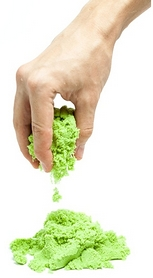 Песок кинетический SuperGum зеленый 1000 г