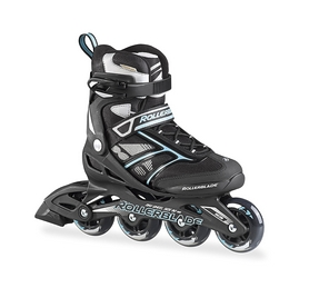 Коньки роликовые женские Rollerblade Zetrablade W 2016 black/light blue
