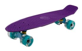 Пенни борд Penny Wheels Fish SK-405-14 фиолетовый/голубой