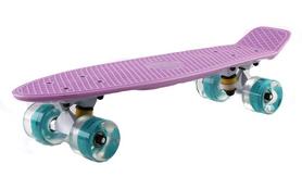 Пенни борд Penny Wheels Fish SK-405-6 фиолетовый/белый