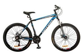 """Велосипед горный Optimabikes Motion AM 14G DD Al 26"""" 2017 черно-синий, рама - 16"""""""