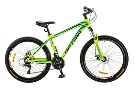 "Велосипед горный Optimabikes Motion AM 14G DD Al 26"" 2017 зеленый, рама - 16"""