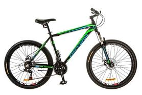 """Велосипед горный Optimabikes Motion AM 14G DD Al 26"""" 2017 черно-зеленый, рама - 19"""""""