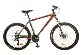 """Велосипед горный Optimabikes Motion AM 14G DD Al 26"""" 2017 серо-красный, рама - 19"""""""