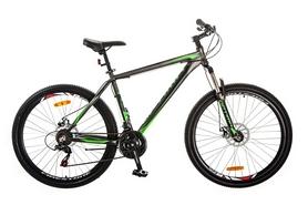 "Велосипед горный Optimabikes Gravity AM 14G DD Al 27,5"" 2017 серо-зеленый, рама - 19"""