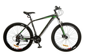 "Велосипед горный Optimabikes F-1 AM 14G HDD Al 2017 - 27.5"", рама - 19"", серо-зеленый (OPS-OP-27.5-011)"