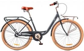 "Велосипед городской женский Dorozhnik Lux 14G Planеtary hub 26"" 2017 серый, рама - 17"""