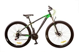 """Велосипед подростковый горный Formula Dragonfly AM 14G DD 29"""" 2017 черно-зеленый, рама - 16"""""""