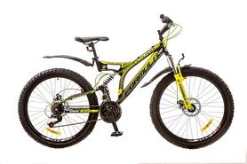 """Велосипед горный Formula Outlander AM2 14G DD St 2017 - 26"""", рама - 18"""", черно-салатовый (OPS-FR-26-195)"""