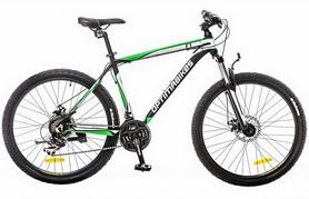 """Велосипед горный Optimabikes F-1 AM 26"""" 14G DD Al 2017 серо-зеленый, рама - 17"""""""