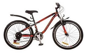 """Велосипед горный подростковый Discovery Flint AM 14G 2017 - 24"""", рама - 13"""", красный (OPS-DIS-24-049)"""