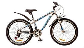 """Велосипед горный подростковый Discovery Flint AM 14G 2017 - 24"""", рама - 13"""", синий (OPS-DIS-24-053)"""