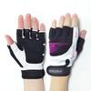 Перчатки спортивные женские Stein Nyomi GLL-2344 черно-розовые - фото 1