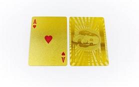 Фото 4 к товару Карты игральные с пластиковым покрытием Gold 100 Dollar IG-4566-G