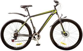"""Велосипед горный Discovery Trek AM 14G DD 29"""" 2017 серо-черно-зеленый, рама - 21"""""""