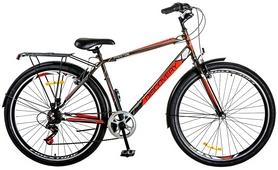 """Велосипед городской Discovery Prestige Man 14G Vbr 29"""" 2017 черный-красный-белый, рама - 19,5"""""""