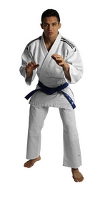 Кимоно для дзюдо Adidas Judo Uniform Club белое - 130 см