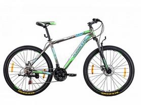 """Велосипед горный Kinetic Unic-steel 27,5"""" серо-зеленый, рама - 19"""""""