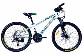 """Велосипед подростковый горный Kinetic Sniper-Disc - 24"""", рама - 15"""", белый (win17-078)"""