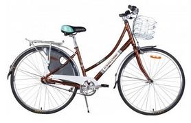 """Велосипед городской женский Cyclone Monaco 3-nex 28"""" коричневый, рама - 17"""""""
