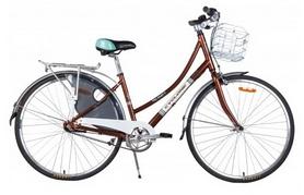 """Велосипед городской женский Cyclone Monaco 3-nex 28"""" коричневый, рама - 20"""""""