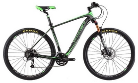 """Велосипед горный Winner Epic 29"""" черно-зеленый, рама - 18"""""""