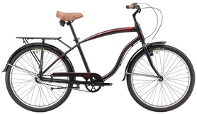 "Велосипед городской Winner Corsa beach cruiser 26"" черный, рама - 18"""