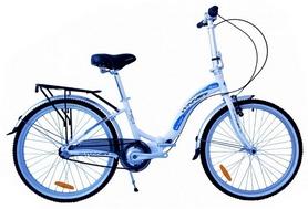 """Велосипед складной городской Winner Ibiza 24"""" бело-голубой"""