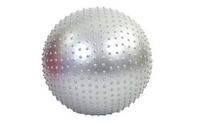 Мяч для фитнеса (фитбол) массажный HMS 55 см серый
