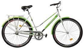 """Велосипед городской женский Ardis City Style 24"""" белый/зеленый, рама - 19"""""""