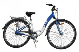 """Велосипед городской Winner Infinity 28"""" бело-голубой, рама - 16"""""""