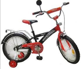 "Велосипед детский Baby Tilly Explorer 18"" black/red"