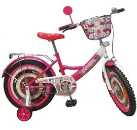 """Велосипед детский Baby Tilly Автоледи 18"""" white/crimson"""