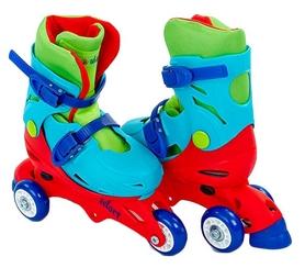 Коньки роликовые раздвижные детские Kepai YX-0153-R синий/красный