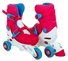 Коньки роликовые раздвижные детские Kepai YX-0153-P розовый/белый