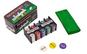 Набор для игры в покер, в металлической коробке, 200 фишек