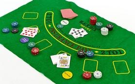Фото 3 к товару Набор для игры в покер, в металлической коробке, 200 фишек