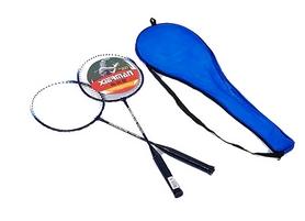 Набор для бадминтона (2 ракетки, чехол) Boshika 802-B синий