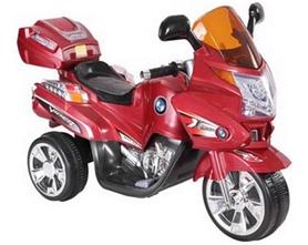 Электромобиль мотоцикл детский Baby Tilly T-725 красный