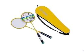 Набор для бадминтона (2 ракетки, чехол) Yonex YY-1308-Y желтый