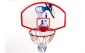 Фото 3 к товару Щит баскетбольный с кольцом и сеткой BA-3522 (90х60 см)