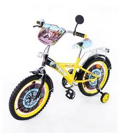 "Велосипед детский Baby Tilly T-21423 ""Мотогонщик"" 18"" yellow/black"