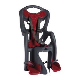 Велокресло детское Bellelli Pepe Сlamp серое с красным