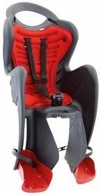 Велокресло детское Bellelli Mr Fox Relax B-fix серо-красное