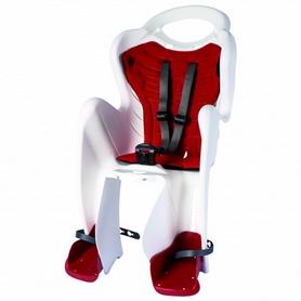 Велокресло детское Bellelli Mr Fox Сlamp бело-красное