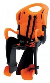 Велокресло детское Bellelli Tiger Relax B-fix черное/оранжевое