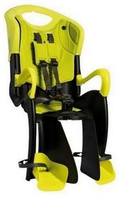 Велокресло детское Bellelli Tiger Relax B-fix черное/салатовое