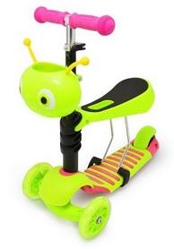 Фото 1 к товару Самокат трехколесный с сиденьем Maraton Onex зеленый