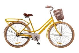 """Велосипед городской женский Dorozhnik Comfort (Planеtary hub) 2017 - 28"""", рама - 19"""", желтый (OPS-D-28-063)"""