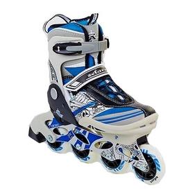 Коньки роликовые раздвижные Zelart Freestyle Z-633B синие